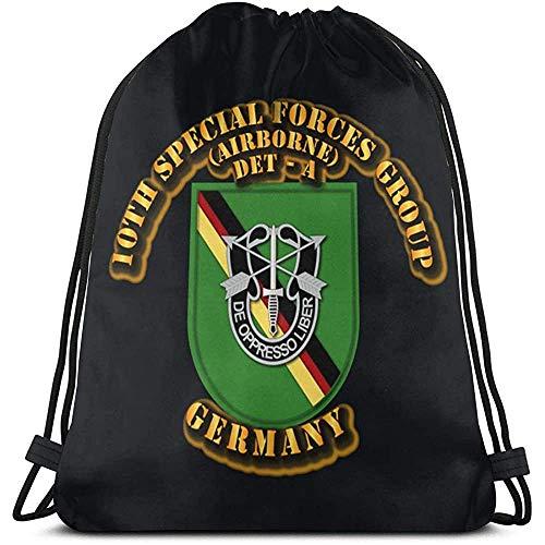 Lmtt Décimo SFG DET A Alemania Mochila con Cordón Mochila Mochilas Bolsas De Gimnasia