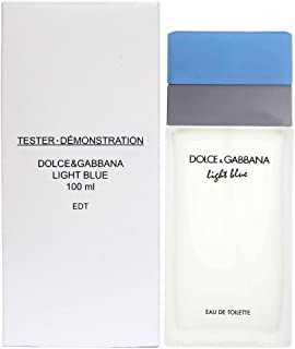 DOLCE & GABBANA Light Blue For Women Eau De Toilette Spray, 3.4 Ounce (Plain Box)