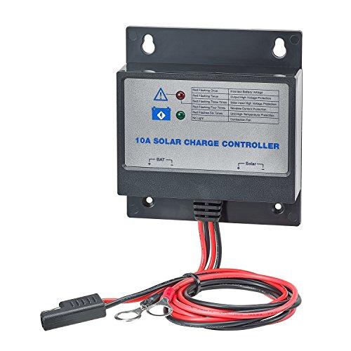 Unbekannt Automaxx 10A Solarpanel Laderegler, Überlastschutz, Batterierücklaufschutz und Solar-Rückwärtsschutz, Blei-Säure-Batterie.