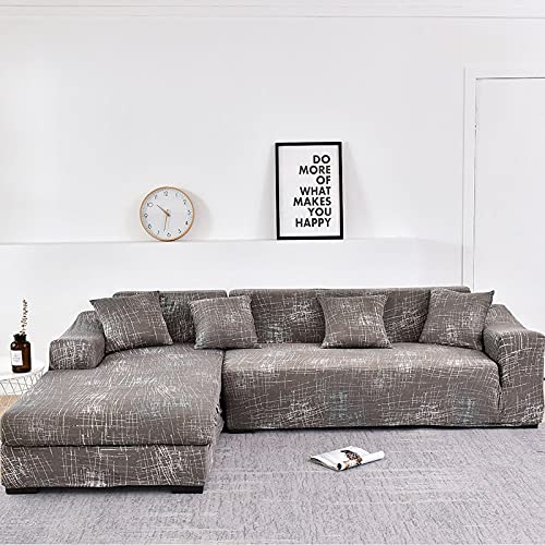 WXQY Funda de sofá de Sala de Estar Chaise Longue, en Forma de L Necesita Comprar 2 Juegos, Funda de sofá elástica Funda de sofá de Esquina en Forma de L A4 1 Plaza