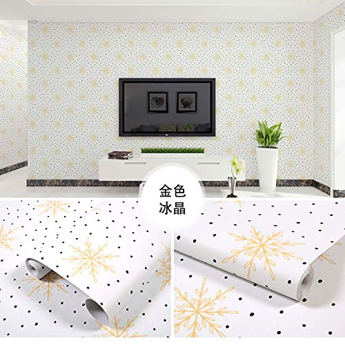 LZYMLG Pvc Self-Adhesive Wallpaper Bedroom Living Room Children'S Room Cabinet Decoration Sticker Waterproof Dormitory Background Wall Sticker AA 60CMX5M