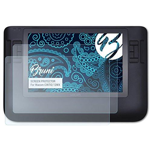 Bruni Schutzfolie kompatibel mit Wacom CINTIQ 12WX Folie, glasklare Displayschutzfolie (2X)