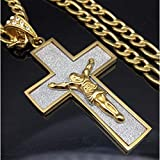 New Gift Unisex's Men Silver Stainless Steel Cross Pendant Necklace Chain Golds