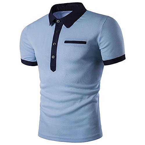 Dasongff T-shirt, heren, vrijetijds-T-shirts, korte mouwen, slim fit, sport, sweatshirt, tops, zomerblouse, polohemden