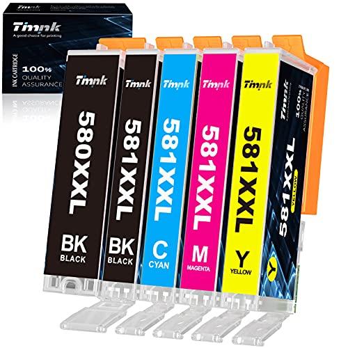 Timink 580XXL 581XXL Cartucce d inchiostro Compatibili per PGI-580 CLI-581 Sostituzione con Canon TS6150 TS6250 TS6350 TS8150 TS8250 TS9550 TS705 TR7550 TR8550 (5 Pezzi)