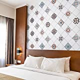 Freshtour Graz Design - Adhesivo decorativo para azulejos de cocina, 60 x 500 cm, lámina adhesiva para muebles de cocina, baño, encimera, cocina, azulejos, papel pintado antisalpicaduras de PVC