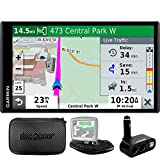 Garmin 010-N2038-02 Drivesmart 65T GPS Navigator – (Renewed) Bundle with Dual DC12V/24V Electronic Multifunction Car Socket, Universal Weighted & Deco Gear Hard EVA Case with Zipper
