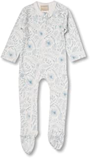 Babyushka Organic Essentials Long Sleeve Zip Baby Jumpsuit, Blue, 0000