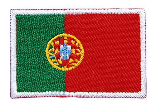 Portugal Flagge Klein Aufnäher Bügelbild Größe 4,5 x 3,0 cm