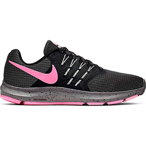 Nike Run Swift Lightweight Running Shoe - Women's (8, Black/Vivid Purple-Light Aqua)