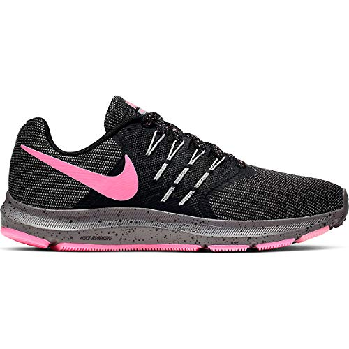 Nike Run Swift Lightweight Running Shoe - Women's (11, Black/Pink)