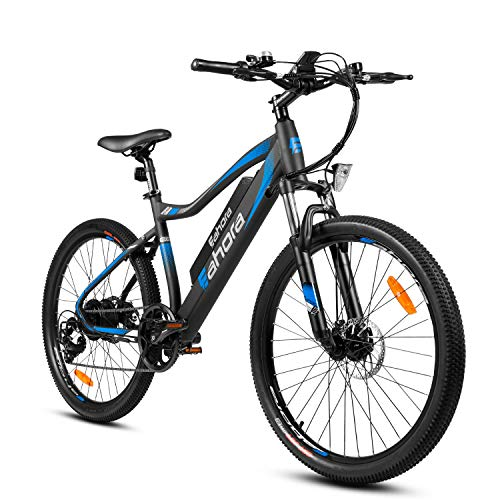 Eahora XC100 Plus 26 inch Electric Mountain Bicycle 7 Speed E-Bike 48V 10.4Ah Lithium Battery 350W Electric Bike Max 80 Miles Adult Assisted E-Bike E-PAS Tech with Cruise Control