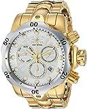 Invicta Men's Venom Quartz Watch with Stainless-Steel Strap, Gold, 26 (Model: 23893)