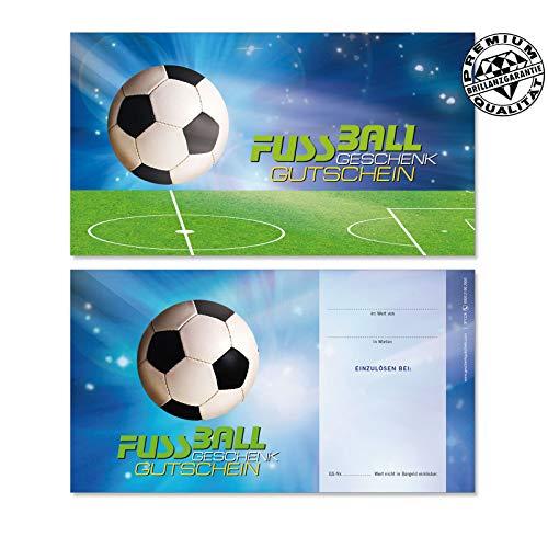 10 Gutscheinkarten Geschenkgutscheine. Gutscheine für Sportartikel Fußball. SP1226 geschenkgutschein gmbh