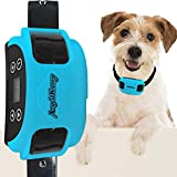 AngelaKerry Wireless Dog Fence System with GPS, Outdoor Pet Containment System Rechargeable Waterproof Collar 850YD Remote for 15lbs-120lbs Dogs (1pc GPS Receiver by 1 Dog, Blue)