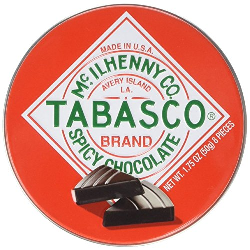 Tabasco spicy dark chocolate wedges