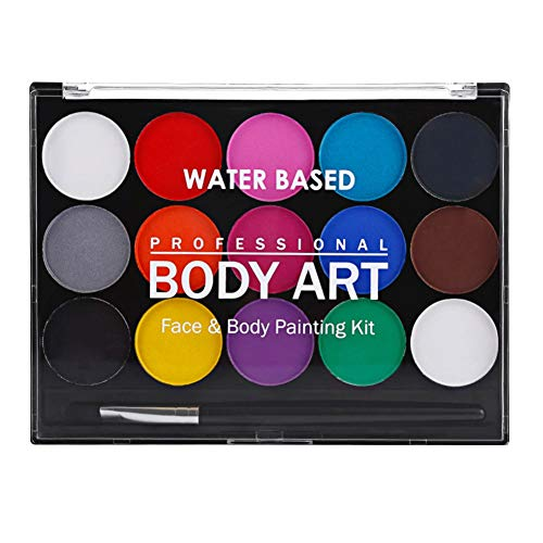 Onkessy Face Body Paint Onkessy 15 Couleurs Drame Clown Halloween Maquillage High Pigment Waterproof Fancy Make