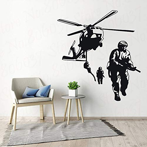 yaofale Army Military Soldier Children's Room Wall Stickers Nursery Children Boys Bedroom Vinyl Wallpaper Art Deco Poster Decals