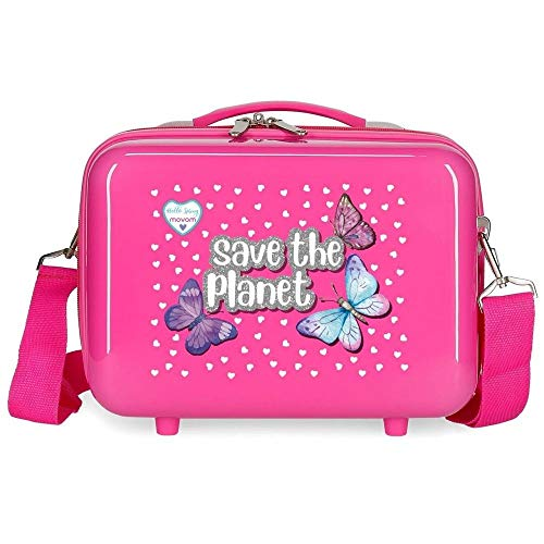 Movom Save The Planet Nececer Adaptable Rosa 29x21x15 cms ABS