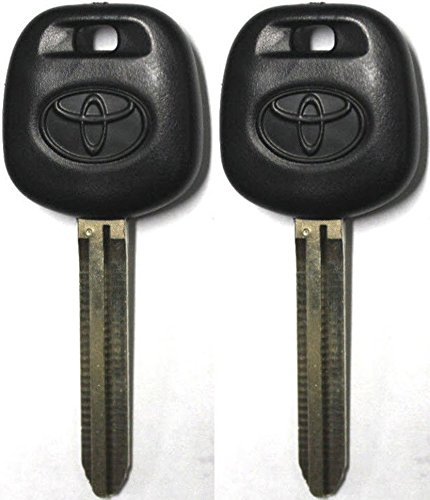 TOYOTA 2 New Replacement Uncut TRANSPONDER 4D CHIP CAR Ignition Key - with Logo