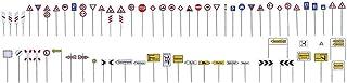 Faller FA 180534 - Traffic Signs Set Accessory for Model Railway, Model Making