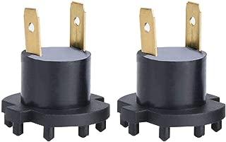 Demiawaking 1 Paio Portalampada per Faro H7 LED Adattatori per Fari LED H7 Adattatore Lampadina h7 LED con Supporto per HyundaiNissan