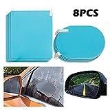 TRUSTTWO 8pcs / lot Espejo retrovisor de coche película protectora contra la niebla lluvia ventana transparente a prueba de lluvia del espejo retrovisor de protección Accesorios para automóviles