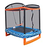 CHENMAO 72'x 50' Rectángulo rectángulo Interior/Exterior de trampolín y Seguridad de Red con Combo Swing.para niños pequeños y niños