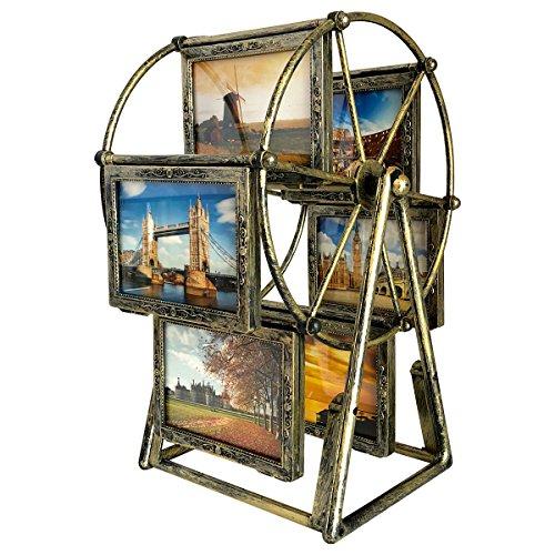 drehbar Riesenrad Foto Rahmen Vintage Bilderrahmen Retro,12 Fotos zeigt für 8,9 x 12,7 cm
