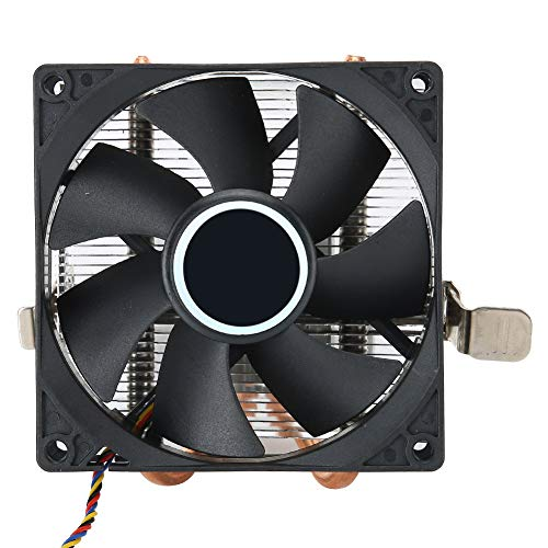 Ventilador de CPU, Accesorio de PC de Escritorio, Conector de 4 Pines de 2 Tubos de latón, disipador de Calor de CPU, para AMD 775/1155/1366