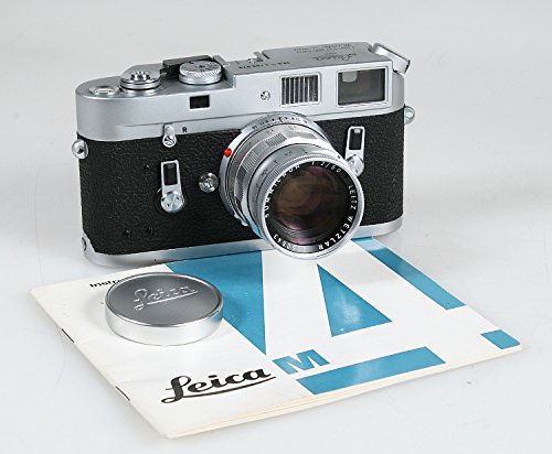 LEICA M4 Chrome 1188979 W/ 50MM F 2.0 Rigid SUMMICRON Lens 2160643 & Manual