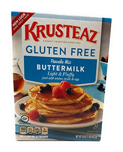 Krusteaz, Gluten Free, Pancake Mix, Buttermilk, 16oz Box (Pack of 2)