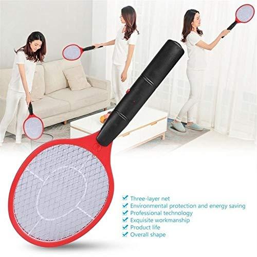 FLLOVE Inizio Elettrico Mosca zanzara Swatter zanzara Bug Zapper Racket Insetti Killer Cordless Battery Power Presa della zanzara Swatter (Color : Black)