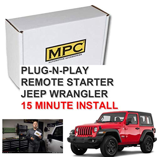 MPC Remote Starter for Jeep Wrangler 2007-2018 Key-to-Start - Plug-n-Play - Use Your Factory Remotes to Remote Start Your Jeep - Easy 15 Minute Install - Includes (4) Piece Install Pry Tool Set