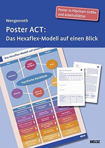 Poster ACT: Das Hexaflex-Modell auf einen Blick. Poster in Flipchart-Größe und Arbeitsblätter in der Sammelmappe. Format Poster: 68 x 99 cm