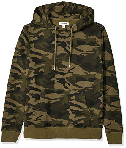 Amazon Brand - Goodthreads Men's Pullover Fleece Hoodie, Green Camo Medium