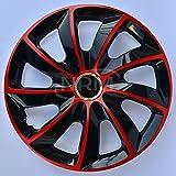 4x Enjoliveurs de roue noir rouge 13' STIG de NRM | Enjoliveurs de roue 13 pouces, Jeu de 4 enjoliveurs