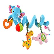 Shape:Cute Blue Elephant shape design. The small animal is very cute. Material :Plush. Full of developmental features that capture baby's imagination and stimulate the senses. Function: vibration and sound. Bright, bold colours and high contrast patt...