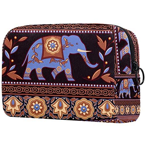 Kosmetiktasche Kosmetiktaschen für Damen, Kleine Kosmetiktasche Reisetaschen für Toilettenartikel - Indischer Elefant