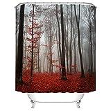 WWZEMLK Wald Landschaft Duschvorhang Badezimmer Dekoration Display Wasserdichtes Gewebe Bad Vorhänge Wohnkultur