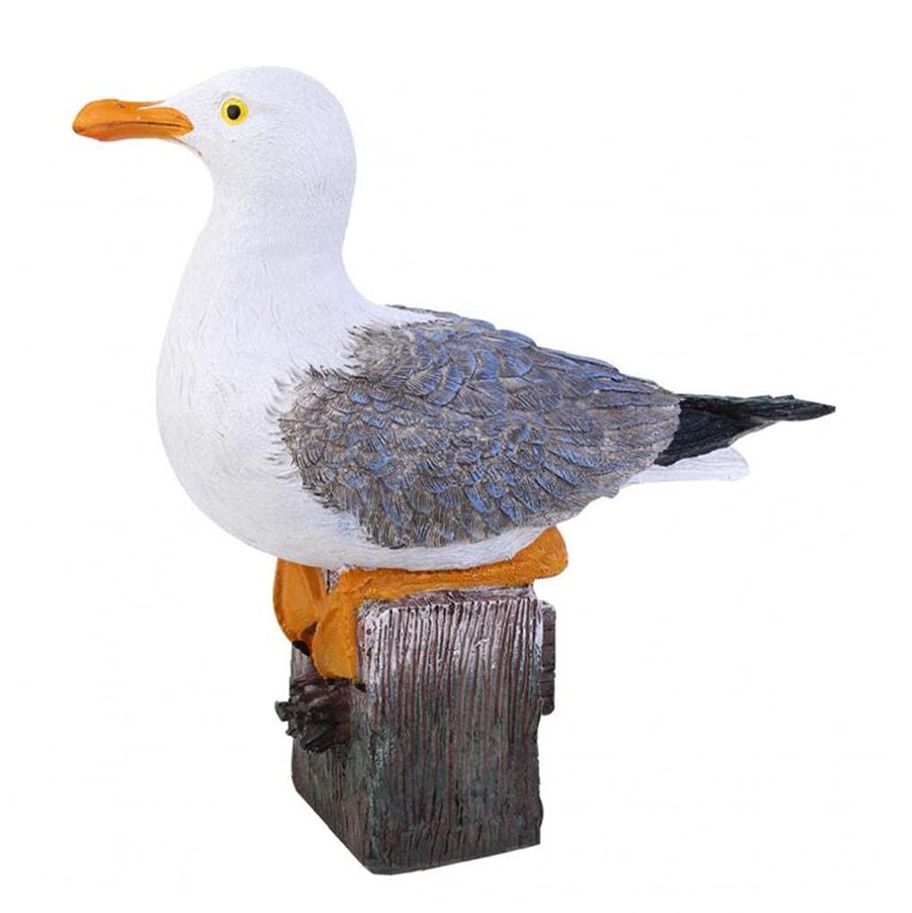 Free shipping EElabper Garden Resin Gnome San Diego Mall Statue Yard Seagull Birds Fiqurine