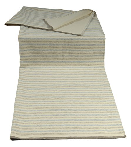David Fussenegger 404460i6 Nova Jeté de lit Divan avec streifchen Mele, Coton mélangé, Blanc cassé, 220 x 145 x 1 cm