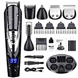 GOOLEEN Beard Trimmer Hair Clippers for Men Cordless Mustache Trimmer 10 in 1 Grooming Trimmer Kit Precision Trimmer for Nose Ear Facial Hair Body Groomer Waterproof USB Rechargeable