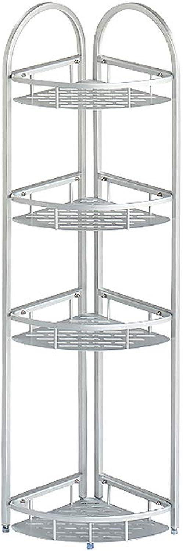 Bathroom Storage Shelf, Space Aluminum Standing Corner Shelves, Multifunction Shelving Units, Easy Inssizetion (Size   4 Tier)
