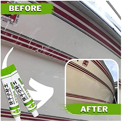 (20g) Fiberglass Boat Repair Paste xt200, Car Scratch Remover Touch Up Paste Fix Tools Fiberglass Boat Repair Paste, Waterproof Quick-Drying Putty Paint (4pc, Gray)