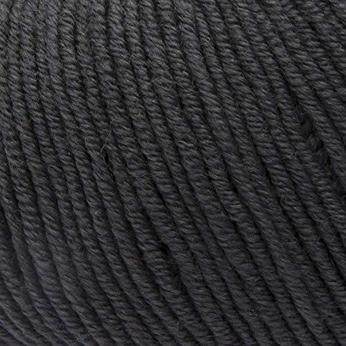 ggh Maxima, Farbe:028 - Anthrazit, 100% Merinowolle (Mulesing Free), 50g Wolle als Knäuel, Lauflänge ca.110 m, Verbrauch 550g, Nadelstärke 4-5, Wolle zum Stricken und Häkeln