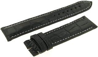 Cinturino Nero Cocco Extra Fort 20mm