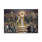 mmzki Jesus Christus Rettungswelt Plakate und Drucke Leinwand Kunst dekorative Wandbilder für Wohnzimmer Wohnkultur ungerahmt Gemälde-No_Frame_40x60_cm_XQ-489-1