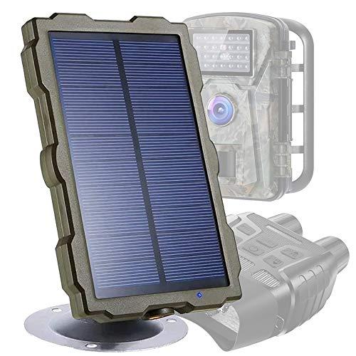 Braveking1 Solarpanel für Jagdkamera Wildkamera, IP56 Wasserdicht DC 6V/1500mAh Solar Power Bank Ladegerät Outdoor Tragbares Wiederaufladbares mit Installationskit, für Wildlife Überwachungskamera
