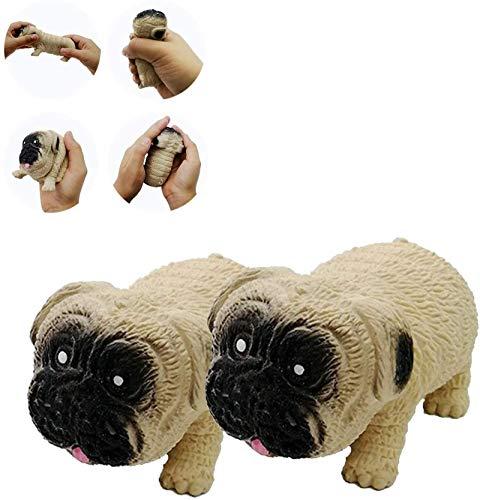 Juguetes creativos de descompresión del barro amasado, Juguete de ventilación de deformación elástica de arena para perros pellizco, Juegos de juguetes de barro amasado de estrés sensorial 2pc